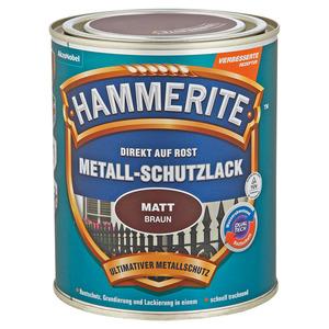 Hammerite Metallschutzlack 'Direkt auf Rost' braun matt 750 ml