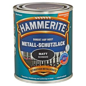 Hammerite Metallschutzlack 'Direkt auf Rost' schwarz matt 750 ml