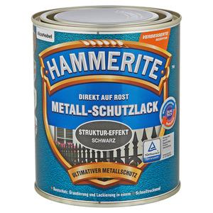 Hammerite Metallschutzlack 'Direkt auf Rost' Struktureffekt schwarz 750 ml