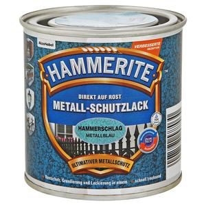 Hammerite Metallschutzlack 'Direkt auf Rost' metallblau Hammerschlag-Effekt 250 ml