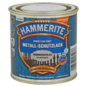 Hammerite Metallschutzlack 'Direkt auf Rost' silbergrau Hammerschlag-Effekt 250 ml