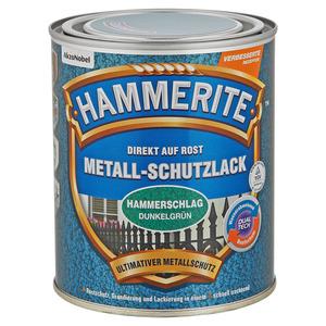 Hammerite Metallschutzlack 'Direkt auf Rost' dunkelgrün Hammerschlag-Effekt 750 ml