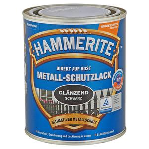 Hammerite Metallschutzlack 'Direkt auf Rost' schwarz glänzend 750 ml