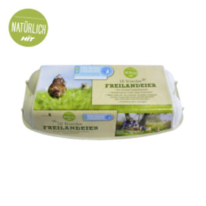 """Eier M-L Freilandhaltung Tierschutzlabel """"Für Mehr Tierschutz"""""""