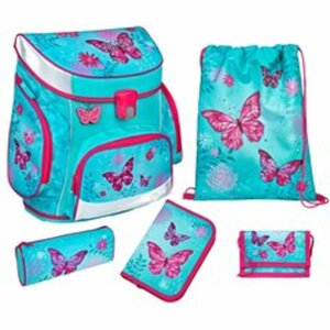 Scooli - Ranzenset Campus Fit, Butterfly, 5-tlg.