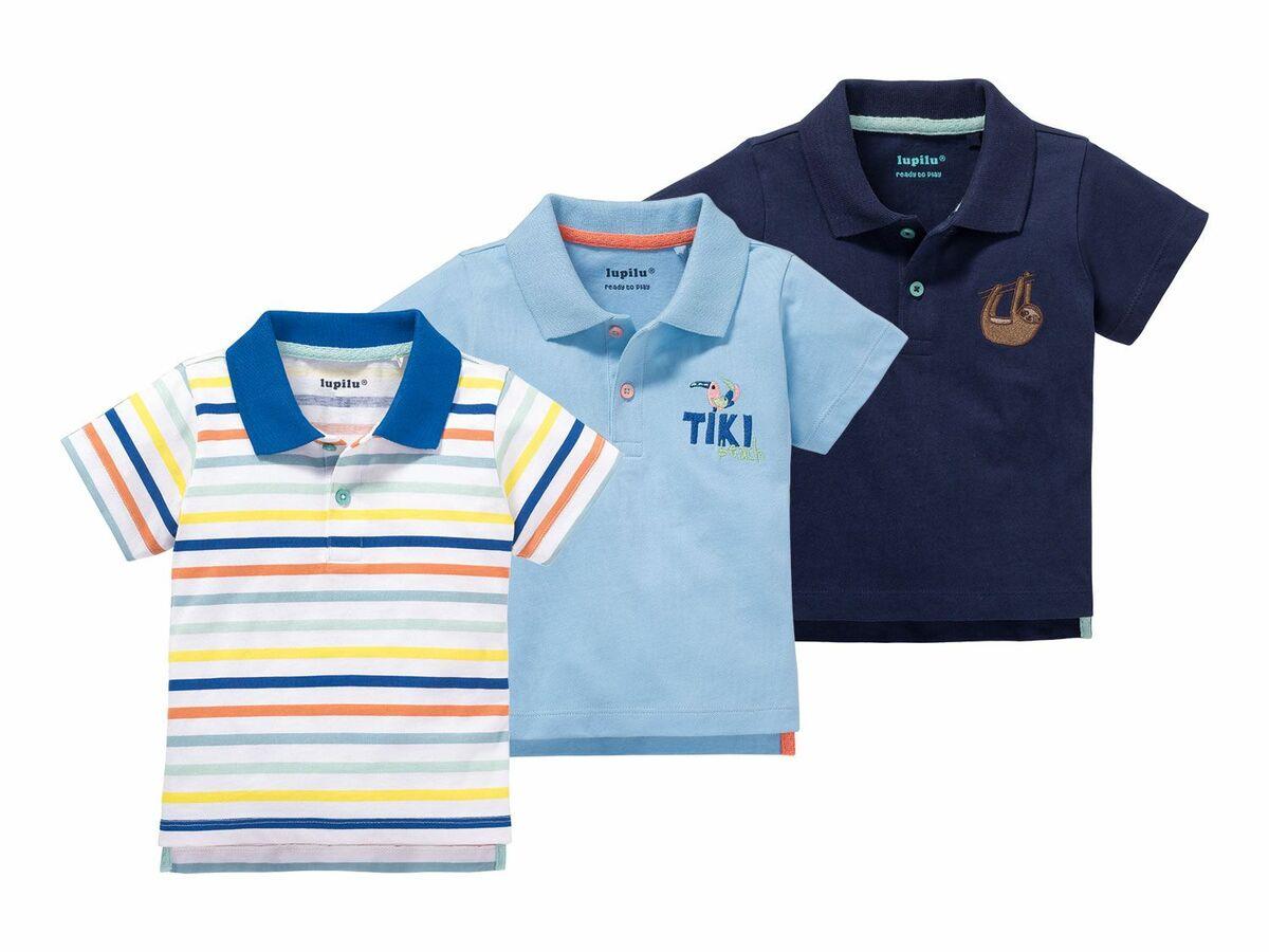 Bild 1 von LUPILU® 3 Baby Jungen Poloshirts
