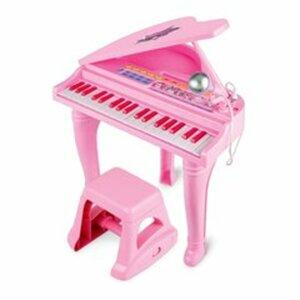 Konzertflügel mit Hocker, pink