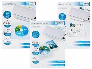 UNITED OFFICE® Laminierfolien-/set ULGZ 80 A2