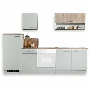 Küchenblock NORA - weiß - Sonoma Eiche - 270 cm