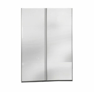 Schwebetürenschrank - weiß Hochglanz - 197 cm hoch - 0194056100