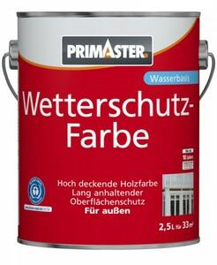 Primaster Wetterschutzfarbe ,  2,5 l, braun