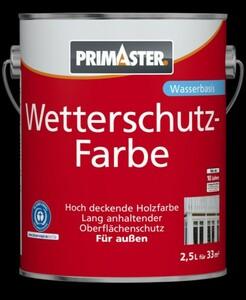 Primaster Wetterschutzfarbe ,  2,5 l, schiefer