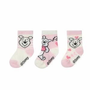 Disney Winnie the Pooh - Baby Socken, 3er Pack, Mädchen - rosa/offwhit ...