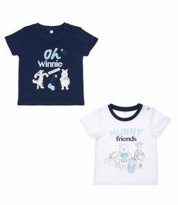 Disney Winnie the Pooh - Baby T-Shirt, 2er Pack, Jungen -  weiß + dunk ...