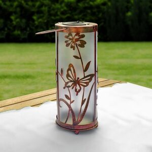 Living & Garden Metall Deko Solarleuchte - rund bronze