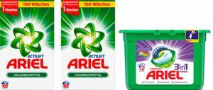 Ariel Vollwaschmittel Pulver 2x130 WL + 3in1 Pods Colorwaschmittel 16 ...