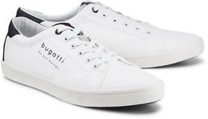 Fashion-Sneaker von Bugatti Denim in weiß für Herren. Gr. 40,41,42,43,44,45,46