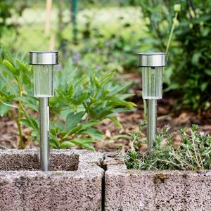 Solar-Gartenleuchten mit Farbwechsler 10er-Set