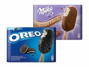 Oreo/Milka/Daim/Toblerone Stieleis