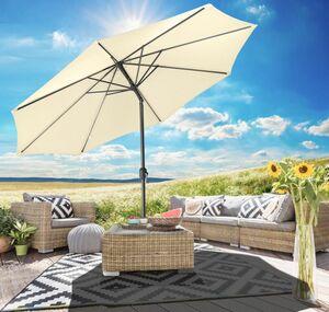 Gartenfreude Sonnenschirm 270 cm, creme