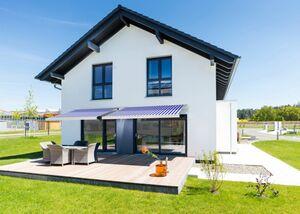 Home Deluxe LED-Vollkassettenmarkise Elos V2 inkl. Sensor, marineblau- ...