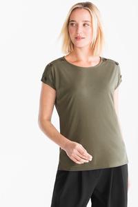 Yessica         T-Shirt - Doppelripp