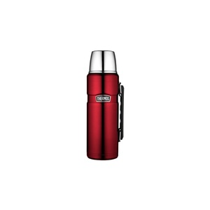 THERMOS by alfi Thermosflasche 1,2 l mit Halterung STAINLESS KING Cranberry Rot
