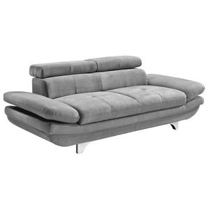 Sofa 2-Sitzer COTTA 104 x 218 cm Stoffbezug smokegrau