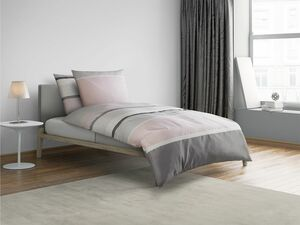 Castell Mako-Satin Bettwäsche Stripes-Design Pink
