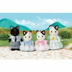 Sylvanian Families - Tuxedo-Katzen-Familie Schwarzohr