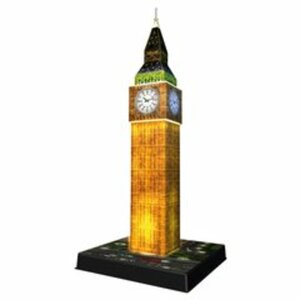 Ravensburger - 3D Puzzle Night Edition: Big Ben bei Nacht, 216 Teile
