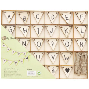 Buchstaben-Wimpel in Box