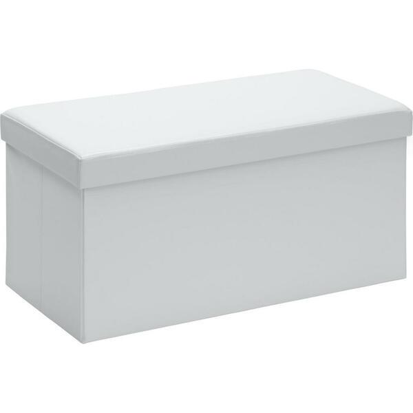 Carryhome SITZBOX Lederlook, Vliesstoff Weiß