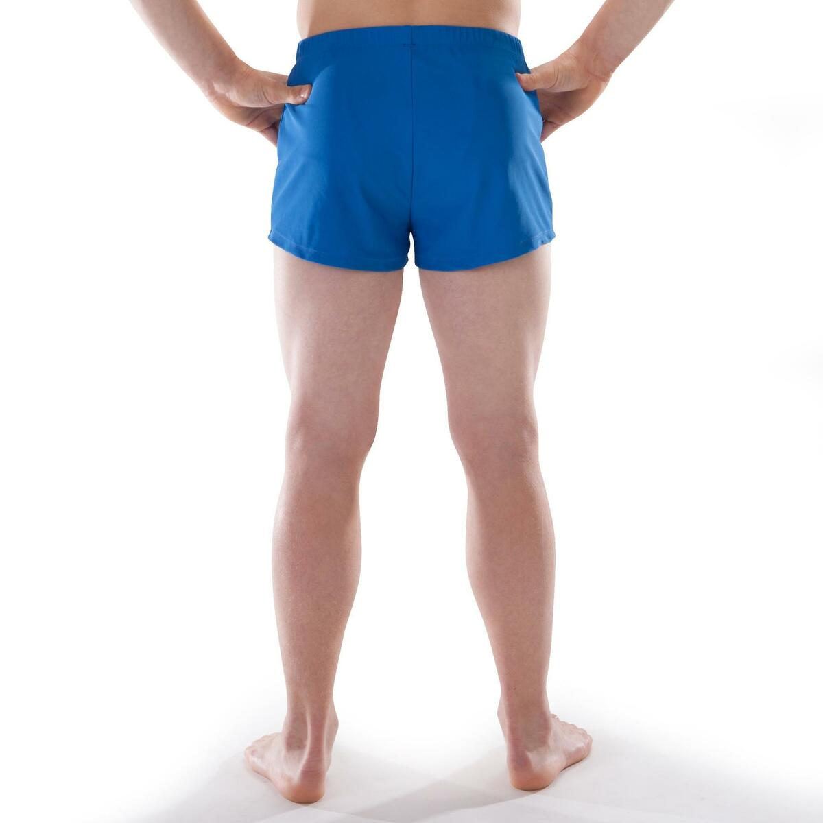 Bild 4 von Gymnastikhose kurz 500 Jungen Herren blau