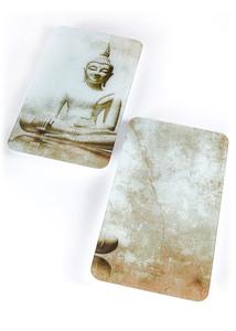 "Herdabdeckplatten ""Buddha"" (2-tlg. Set)"