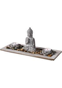 "Deko-Tablett ""Buddha mit Kerzen"""