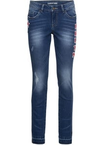 Verkürzte Skinny Jeans mit Stickerei