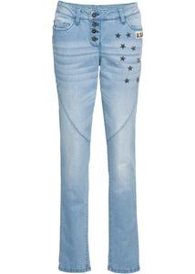 Boyfriend-Jeans mit Nieten
