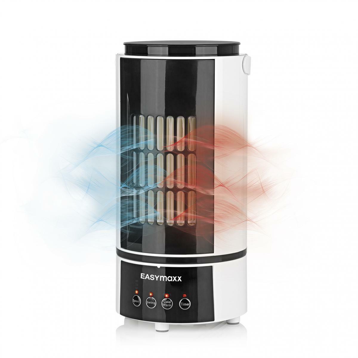 Bild 1 von EASYmaxx Klimagerät Kühlen & Heizen 2in1 800W weiß/schwarz mit Fernb. + Timer