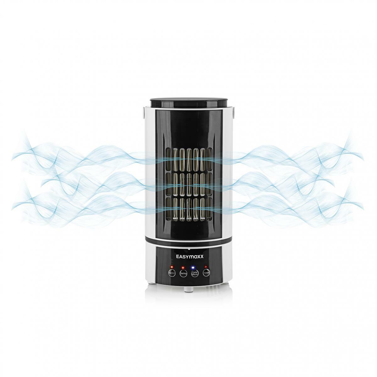 Bild 3 von EASYmaxx Klimagerät Kühlen & Heizen 2in1 800W weiß/schwarz mit Fernb. + Timer
