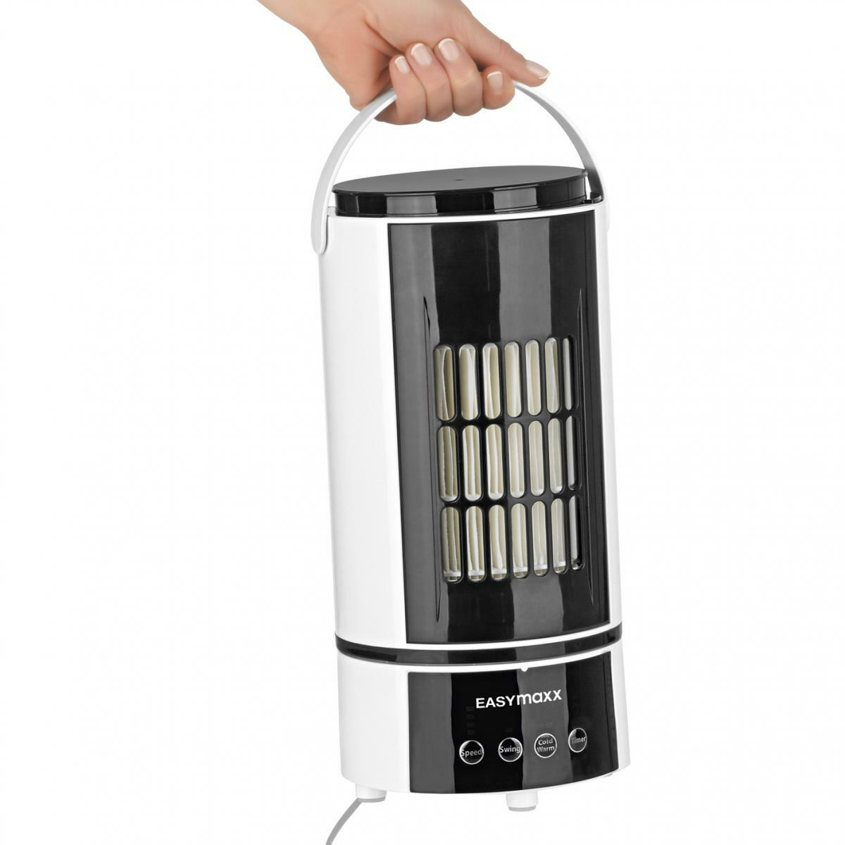 Bild 5 von EASYmaxx Klimagerät Kühlen & Heizen 2in1 800W weiß/schwarz mit Fernb. + Timer