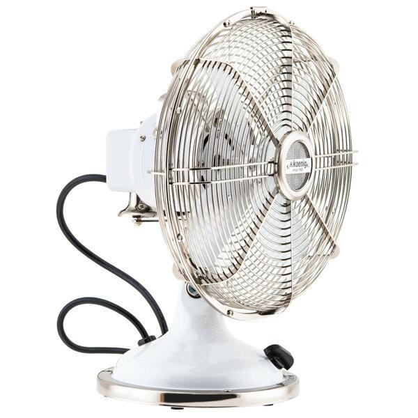 H.Koenig JOE50 Metall-Ventilator weiß
