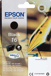 EPSON  Druckerpatrone Nr. 16 Schwarz