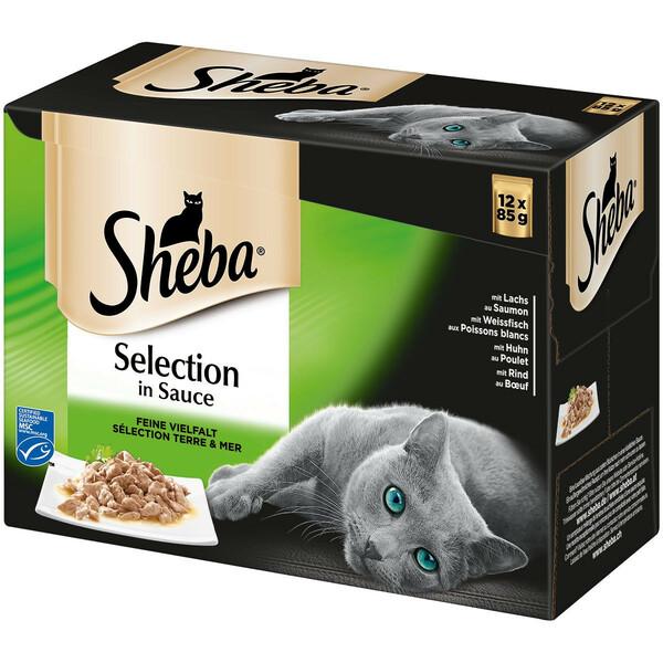 Sheba Selection in Sauce Feine Vielfalt Multipack