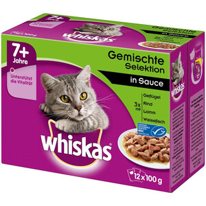 Whiskas Senior 7+ Gemischte Selektion in Sauce Multipack