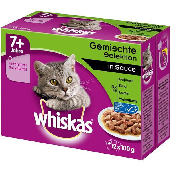Whiskas Senior 7+ Gemischte Selektion in Sauce Multipack