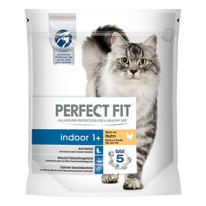 Perfect Fit Katzenfutter Indoor 1 + reich an Huhn
