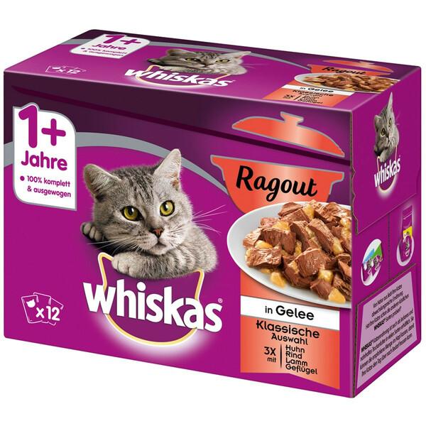 Whiskas Adult 1+ Ragout Klassische Auswahl in Gelee Multipack