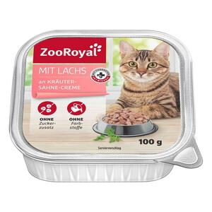 ZooRoyal mit Lachs an Kräuter-Sahne-Creme