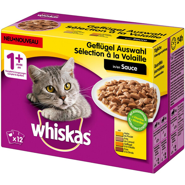 Whiskas Adult 1+ Geflügelauswahl in Sauce Multipack